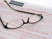 Glasses on a claim form